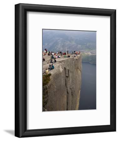 Preikestolen Rock, Lysefjorden, Rogaland, Norway, Scandinavia, Europe