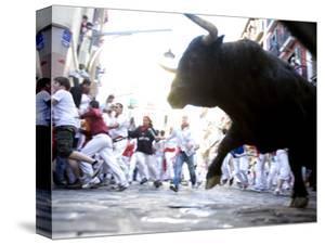 Running of the Bulls, San Fermin Festival, Pamplona, Navarra, Spain, Europe by Marco Cristofori