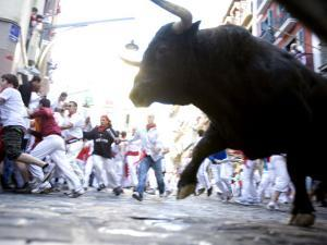 Running of the Bulls, San Fermin Festival, Pamplona, Navarra, Spain, Europe by Marco Cristofori