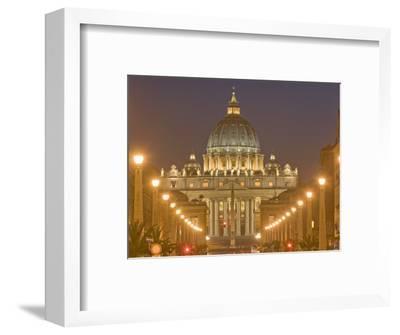St. Peter's Basilica and Conciliazione Street, Rome, Lazio, Italy, Europe