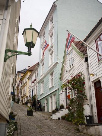 Strangebakken Street, Stransidden District, Bergen, Hordaland, Norway, Scandinavia, Europe