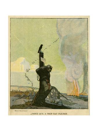 WW1 Cartoon, Unmourned