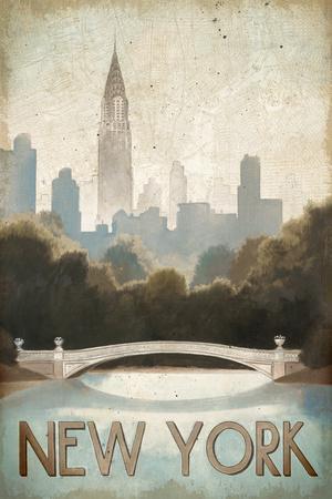 City Skyline New York Vintage V2