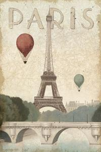 City Skyline Paris Vintage V2 by Marco Fabiano