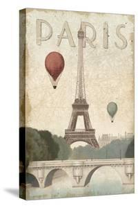 City Skyline Paris Vintage V2 by Marco Fabiano