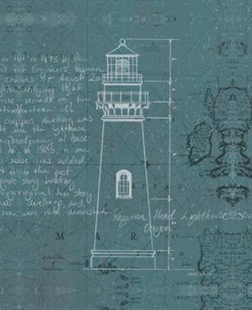 Coastal Blueprint VII Dark 22x28 by Marco Fabiano
