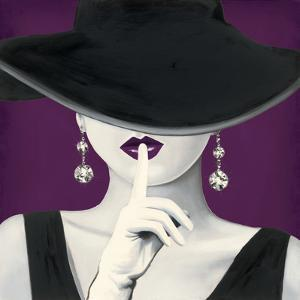 Haute Chapeau Purple I by Marco Fabiano