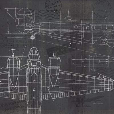 Plane Blueprint II by Marco Fabiano