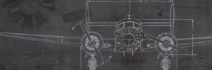 Plane Blueprint IV by Marco Fabiano