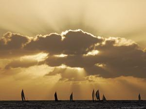 Sunset Sail, Honolulu, Hawaii by Marco Garcia