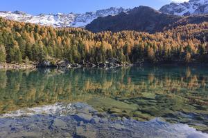 Autumn at the Lago Di Saoseo, Switzerland by Marco Isler