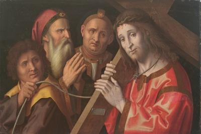 Christ Carrying the Cross and Two Saints