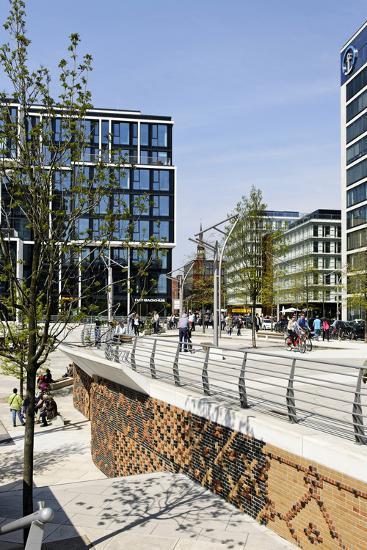 Marco Polo Terraces, Local Recreation, Hafencity, Hamburg, Germany, Europe-Axel Schmies-Photographic Print