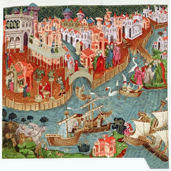 Marco Polo, Venetian merchant and explorer, 14th century. Artist: Unknown-Unknown-Giclee Print