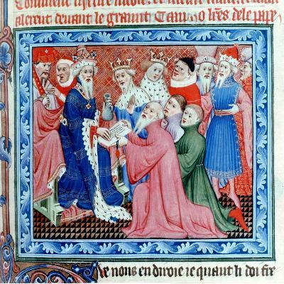 Marco Polo, Venetian Traveller and Merchant Meeting Kublai Khan, 13th Century--Giclee Print