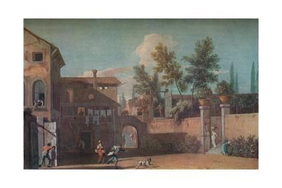 'Courtyard of an Italian Villa', c1700 (1935)