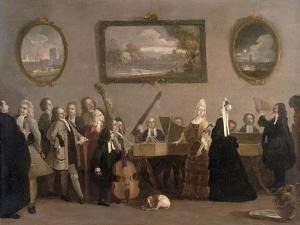 Rehearsal of an Opera, c.1709 by Marco Ricci