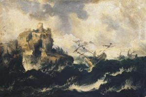 Shipwreck on the Stormy Sea by Marco Ricci