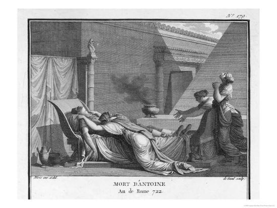 Marcus Antonius Believing Cleopatra Dead Kills Himself to Cleopatra's Distress-Augustyn Mirys-Giclee Print