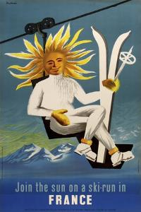Join the Sun for a Ski Run by Marcus Jules
