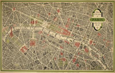 Paris Map by Marcus Jules