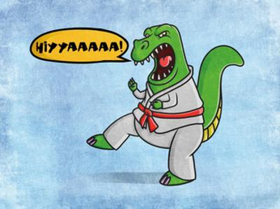 Karate Dino by Marcus Prime