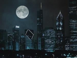 Moonlit Chicago by Marcus Prime
