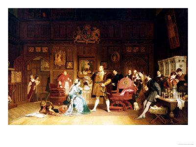 Henry VIII and Anne Boleyn Observed by Queen Katherine, 1870