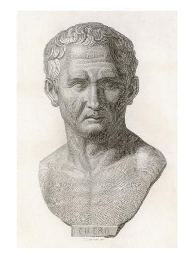Marcus Tullius Cicero Roman Statesman and Orator--Giclee Print