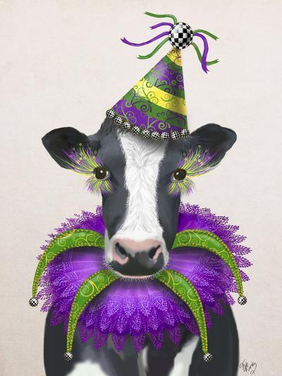 Mardi Gras Cow-Fab Funky-Art Print