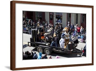 Mardi Gras Float; Band With Cartoon Characters-Carol Highsmith-Framed Art Print