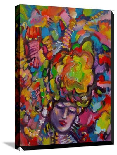 Mardi Gras Lady 6152-Howie Green-Stretched Canvas Print