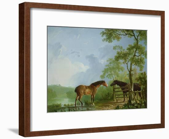 Mare and Stallion in a Landscape-Sawrey Gilpin-Framed Giclee Print