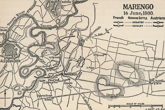 'Marengo - 14 June, 1800 (Morning Battle)', (1896)-Unknown-Giclee Print