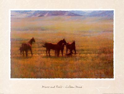 Mares and Foals-Colleen Howe-Art Print
