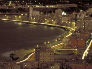 Malecon at Night, Havana, Cuba by Maresa Pryor