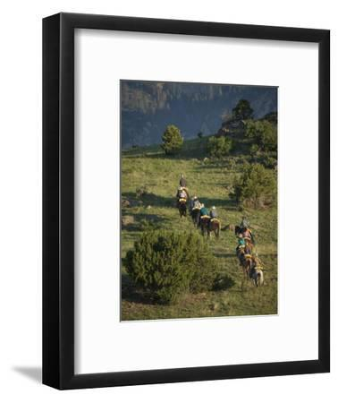 Philmont Cavalcades Ride Horses Through the Rugged Mountain Wilderness, Cimarron, New Mexico