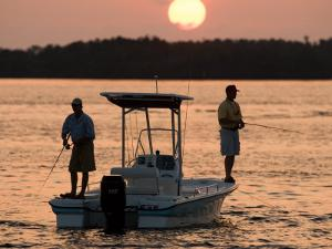 Saltwater Flats Fly fishing in San Carlos Bay, Sanibel Island, Florida by Maresa Pryor