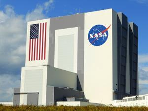 Vab Building at Sunrise, Cape Canaveral, Ksc, Titusville, Florida, Usa by Maresa Pryor