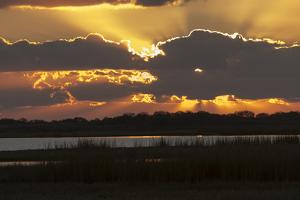 Welder Flats at sunrise, San Antonio Bay, Texas by Maresa Pryor