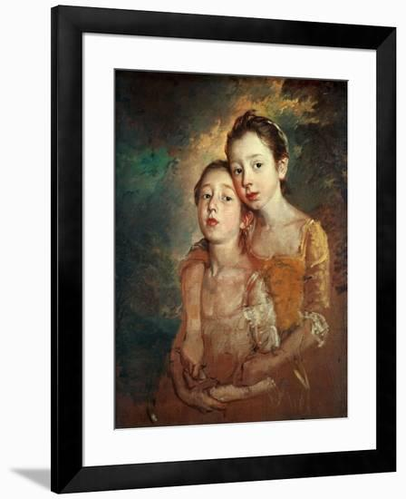 Margaret And Mary Gainsborough, 1760-1761-Thomas Gainsborough-Framed Giclee Print