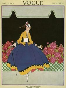 Vogue Cover - July 1915 by Margaret B. Bull