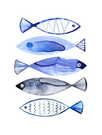 Retro Watercolour Fish by Margaret Berg