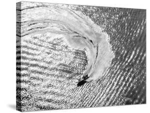 Aerial of Waterskier. Long Beach, California 1951 by Margaret Bourke-White