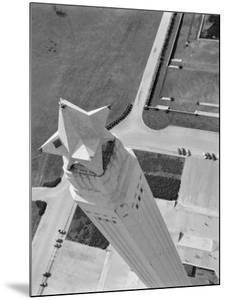 Aerial Shot of San Jacinto Monument. 1952 Houston, Texas by Margaret Bourke-White