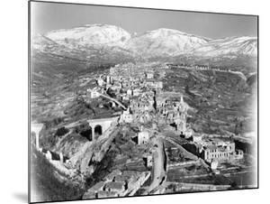 Aerial View, from an American Piper Cub Plane, of a Battle-Damaged Town in the Cassino, Ital, 1944 by Margaret Bourke-White
