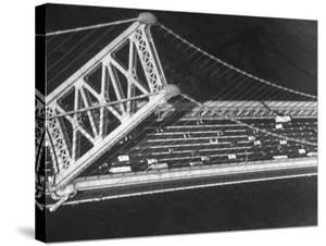 Aerial View of Traffic on the Whitestone Bridge by Margaret Bourke-White