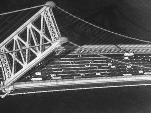 Aerial View of Traffic on the Whitestone Bridge by Margaret Bourke-White