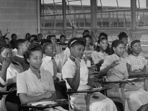 African-American Students in Class at Brand New George Washington Carver High School by Margaret Bourke-White