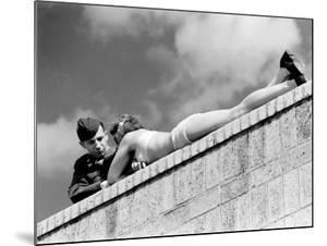 American Soldier Chatting with a Sunbathing German Girl in Postwar Berlin by Margaret Bourke-White